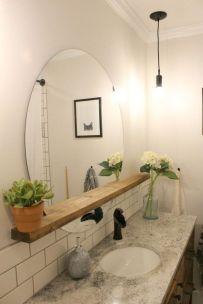 Stunning bathroom mirror decor ideas 32