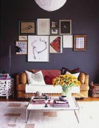 Stunning living room wall gallery design ideas 20