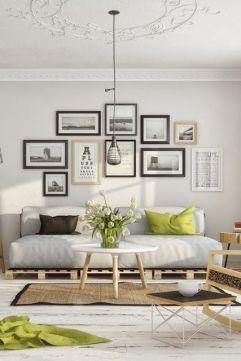 Stunning living room wall gallery design ideas 32