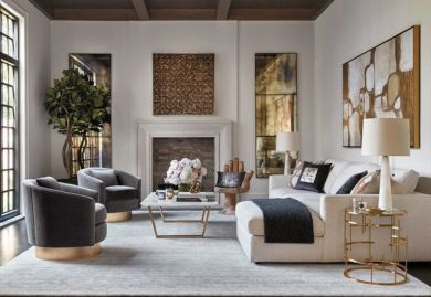 Stylish gold living room design ideas you will love 40