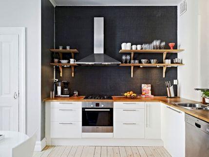 Amazing black kitchen design ideas 17