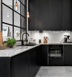 Amazing black kitchen design ideas 22