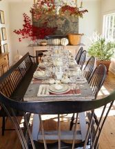 Amazing dinning room ideas with natural farmhouse style 03