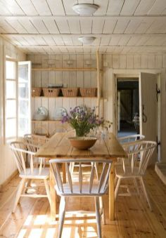Amazing dinning room ideas with natural farmhouse style 09