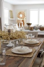 Amazing dinning room ideas with natural farmhouse style 23
