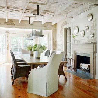 Amazing dinning room ideas with natural farmhouse style 32