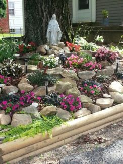Great front yard rock garden ideas 02
