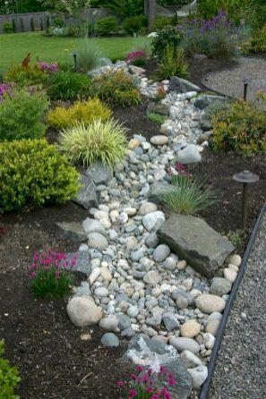 Great front yard rock garden ideas 10