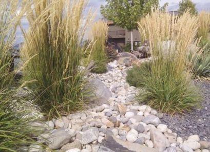 Great front yard rock garden ideas 11