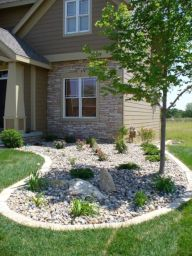 Great front yard rock garden ideas 39