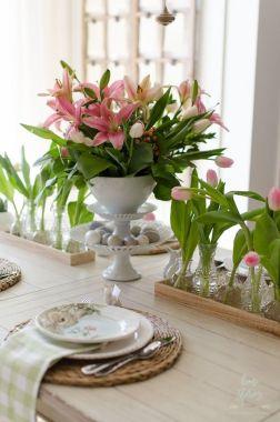 Modern spring dining room decoration ideas 02