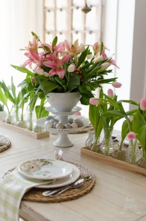 Modern spring dining room decoration ideas 02