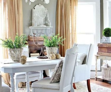 Modern spring dining room decoration ideas 06