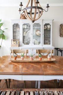 Modern spring dining room decoration ideas 18