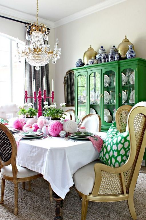 Modern spring dining room decoration ideas 49