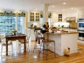 Popular modern french country kitchen design ideas 10
