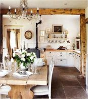 Popular modern french country kitchen design ideas 16