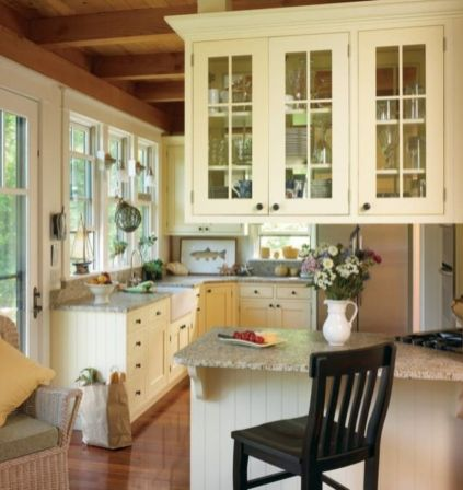 Popular modern french country kitchen design ideas 19