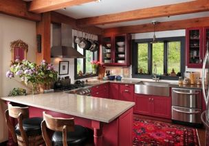 Popular modern french country kitchen design ideas 23
