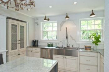 Popular modern french country kitchen design ideas 38