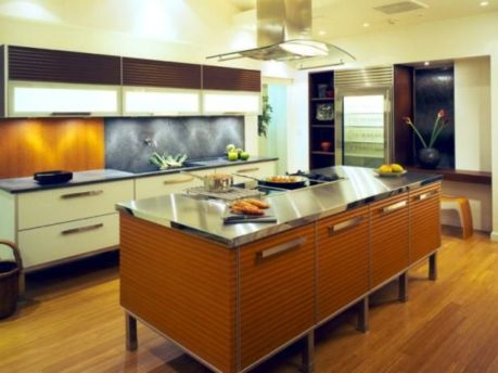 Popular modern french country kitchen design ideas 45