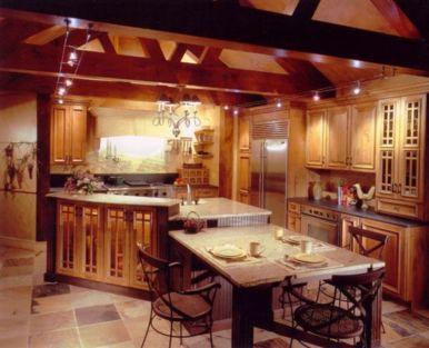 Popular modern french country kitchen design ideas 50