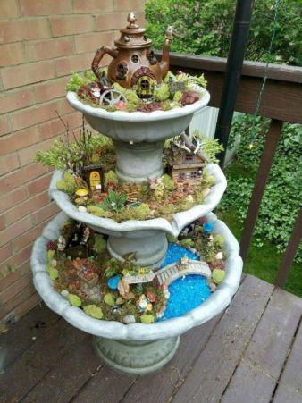 Stunning fairy garden decor ideas 06