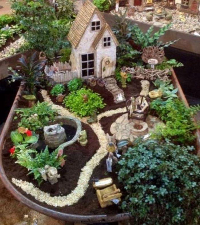 Stunning fairy garden decor ideas 15