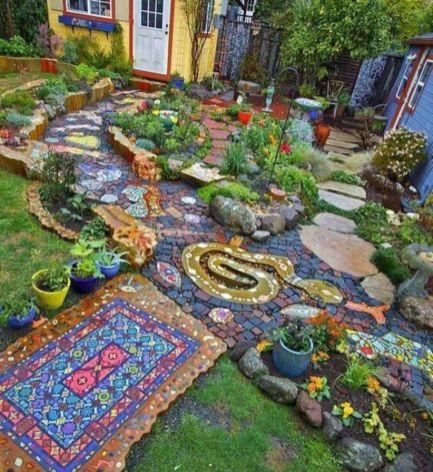 Stunning fairy garden decor ideas 16