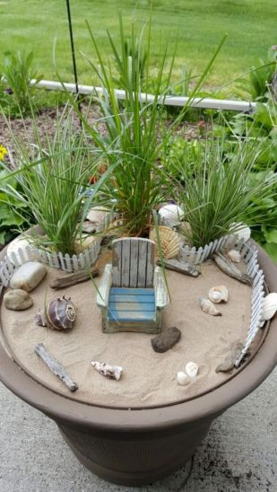 Stunning fairy garden decor ideas 21