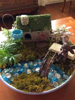 Stunning fairy garden decor ideas 22