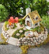 Stunning fairy garden decor ideas 25