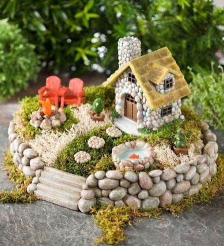 Stunning fairy garden decor ideas 25