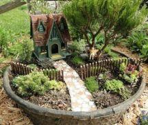 Stunning fairy garden decor ideas 36