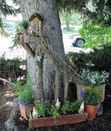 Stunning fairy garden decor ideas 43