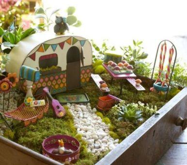 Stunning fairy garden decor ideas 47