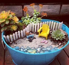 Stunning fairy garden decor ideas 52