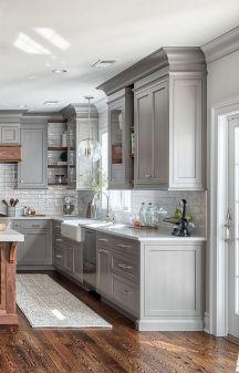 Stunning farmhouse kitchen cabinet ideas 22