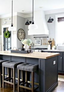 Stylish modern farmhouse kitchen makeover decor ideas 12