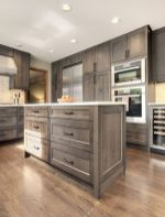 Stylish modern farmhouse kitchen makeover decor ideas 19