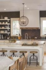 Stylish modern farmhouse kitchen makeover decor ideas 20