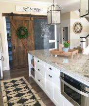 Stylish modern farmhouse kitchen makeover decor ideas 46