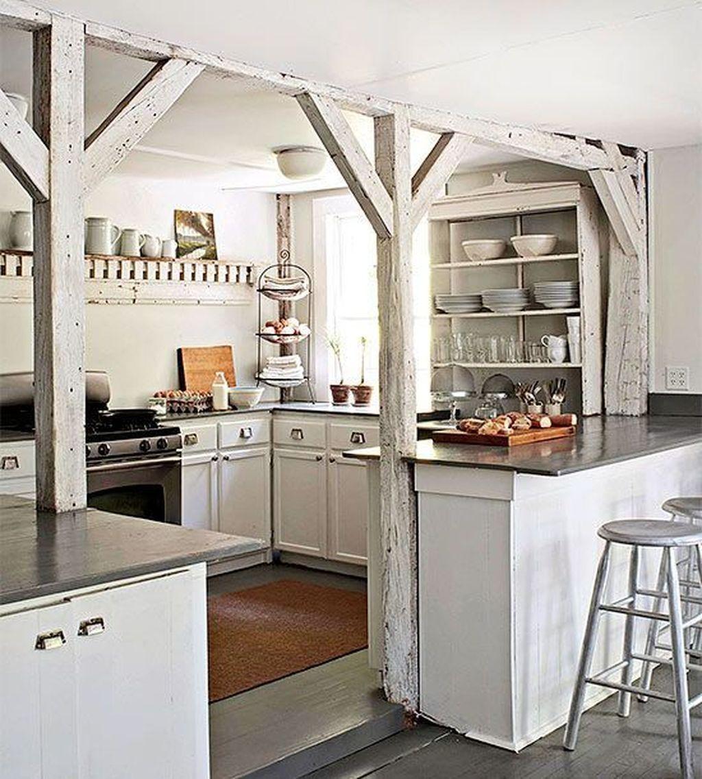 62 Stylish Modern Farmhouse Kitchen Makeover Decor Ideas