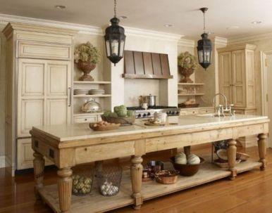 Stylish modern farmhouse kitchen makeover decor ideas 54
