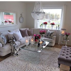 Ultimate romantic living room decor ideas 45