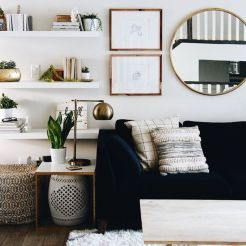 Adorable apartment living room decorating ideas 14