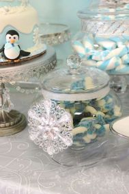 Charming winter wonderland party decoration kids ideas 03