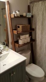 Lovely diy bathroom organisation shelves ideas 01