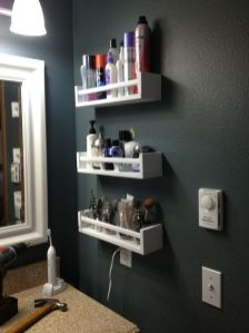 Lovely diy bathroom organisation shelves ideas 13