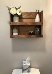 Lovely diy bathroom organisation shelves ideas 23